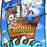 """pirates ar & skeet color backgr"" by Borax"