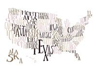 Soft Earth US Typography Map