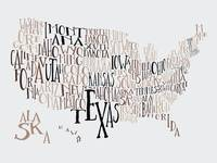 Dead Seasons US Typography Map