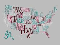 New Patriot US Typography Map