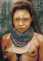 water colour-lady from the Highlands-PNG.bmp