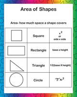 Area of Shapes Rainbow