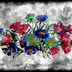 """18a Abstract Floral Pastel Painting Digital"" by Ricardos"