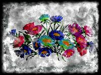 18a Abstract Floral Pastel Painting Digital