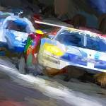 """""""2016 Ford GT at Lemans"""" by ArtbySachse"""