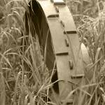 """Abandoned Steel Farm Implement Wheel"" by rhamm"