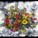 """""""19a Abstract Floral Painting Digital Expressionism"""" by Ricardos"""