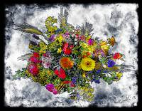19a Abstract Floral Painting Digital Expressionism