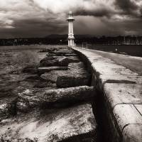 Lighthouse On Lake Geneva Art Prints & Posters by George Oze