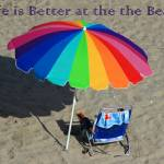 """Colorful Beach Umbrella"" by rhamm"