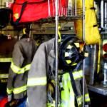 """Uniforms Inside Firehouse"" by susansartgallery"