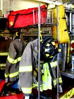 Uniforms Inside Firehouse
