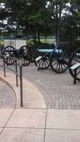 Cannons at the battlefield