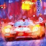 """Ferrari at Lemans"" by ArtbySachse"