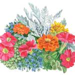 """Festive Watercolor Flowers"" by IrinaSztukowski"