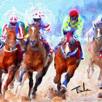 Kentucky Derby Art Prints & Posters by Tom Sachse