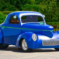 1941 Willys Coupe 'Blu and Blown' Art Prints & Posters by Dave Koontz