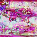 """SweetCosmicBirdAndThePinkSky"" by ElectricStarGarden"