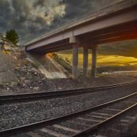 Sunset Bridge Art Prints & Posters by Steve Ondrus