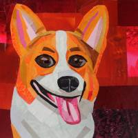 The Smiling Corgi Art Prints & Posters by Megan Coyle