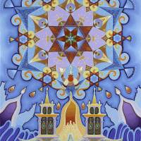 Magen David Michael engel Art Prints & Posters by Baruch Nachshon