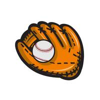 Baseball Glove Ball Retro