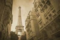 Vintage retro Paris with Eiffel Tower 6