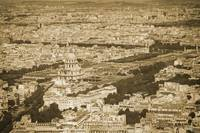 Vintage retro Paris with Invalides Palace 2