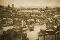 Vintage retro Paris with Seine river 7
