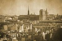 Vintage retro Paris with Notre Dame Cathedral 9