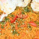 """""""Noodles Vegetables and Fried Eggs"""" by rhamm"""