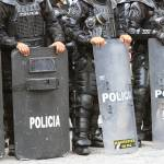 """2016-06-29 Riot Police in Cotacachi"" by rhamm"