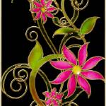 """""""Stain Glass Abstract Floral"""" by GregB"""