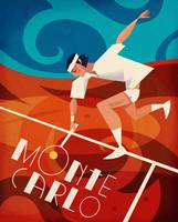 Monte Carlo Tennis Poster