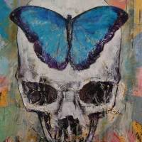 Butterfly Skull Art Prints & Posters by Michael Creese