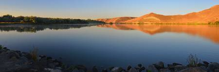 Sunrise on Hagerman Fossil Beds along Snake River
