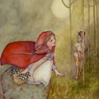 red riding hood Art Prints & Posters by Laurel Nelson
