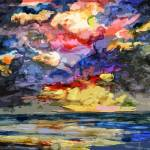 """Stormy Sunrise Cloudy Sky"" by GinetteCallaway"