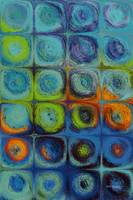 Circles and Squares 52. Textured Aqua Oils