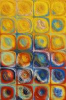 Circles and Squares 53. Textured Yellow Oils