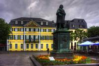 Central Post Office and Beethoven Memorial in Bonn