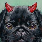 """Devil Pug"" by creese"