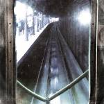 """Through The Last Subway Car Window 4"" by RubinoFineArt"