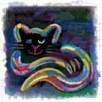 """Rainbow Cat"" by bernd-wachtmeister"