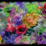 """21a Abstract Floral Painting Digital Expressionism"" by Ricardos"
