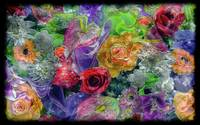 21a Abstract Floral Painting Digital Expressionism