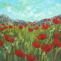 Mountain Field in Bloom Art Prints & Posters by S McLean