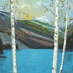 """""""Mountain Lake with Birches"""" by DreamGallery"""