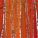 """Red Birch Woods"" by DreamGallery"