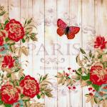 """""""Red roses on wood"""" by lizmix"""